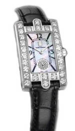 часы Harry Winston Avenue Lady (WG_Diamonds / MOP / Black Strap)