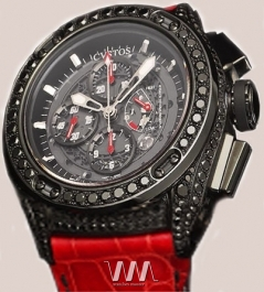 часы Cvstos Challenge-R50 Chrono Black Steel Black Diamond