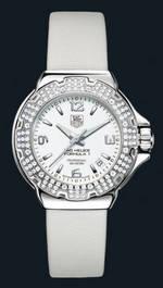 ���� TAG Heuer Formula 1 Glamour Diamonds (SS-Diamonds / White / Strap)