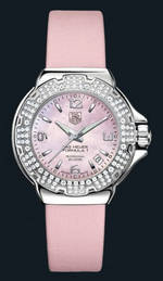 часы TAG Heuer Formula 1 Glamour Diamonds (SS-Diamonds / Pink MOP / Strap)