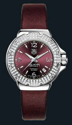 часы TAG Heuer Formula 1 Glamour Diamonds (SS-Diamonds / Maroon / Strap)