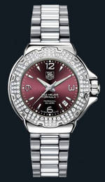 часы TAG Heuer Formula 1 Glamour Diamonds (SS-Diamonds / Maroon / SS)