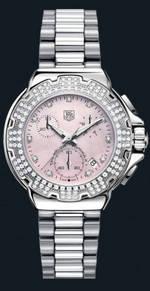 часы TAG Heuer Formula 1 Diamond Chronograph (SS-Diamonds / Pink / SS)