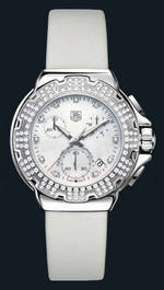 часы TAG Heuer Formula 1 Diamond Chronograph (SS-Diamonds / MOP / Strap)