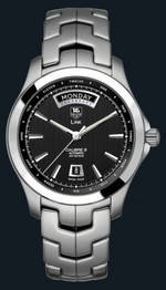 часы TAG Heuer Link Automatic Day Date (SS / Black / SS)