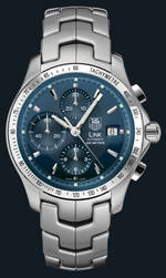 часы TAG Heuer Link Automatic Chronograph (SS / Blue / SS)
