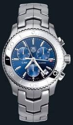 часы TAG Heuer Link Quartz Chronograph (SS / Blue / SS)