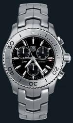 часы TAG Heuer Link Quartz Chronograph (SS / Black / SS)