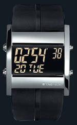 часы TAG Heuer Microtimer (SS / Rubber)