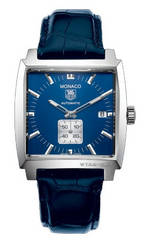 часы TAG Heuer Monaco Automatic (SS / Blue / Leather)