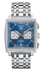 часы TAG Heuer Monaco Automatic Chronograph (SS / Blue / SS)