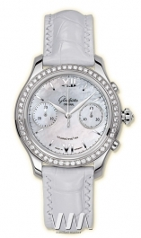 часы Glashutte Original Glashutte Original Lady Serenade Chronograph (SS_Diamonds MOP Leather)