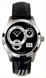 часы Glashutte Original Glashutte Original Panomaticreserve (Pt / Black_Silver / Leather)