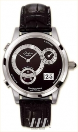 часы Glashutte Original Glashutte Original Panomaticvenue (Pt / Black_Silver / Leather)