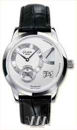 часы Glashutte Original Glashutte Original Panoreserve (SS / Silver / Leather)