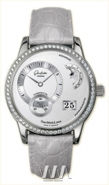 часы Glashutte Original Glashutte Original Panomaticlunar (WG_Diamonds / Silver / Leather)