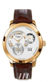 часы Glashutte Original Glashutte Original Panomatycreserve XL (RG / Silver / Leather)