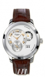 часы Glashutte Original Glashutte Original Panomatycreserve XL (WG / Silver / Leather)