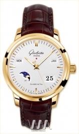 часы Glashutte Original Glashutte Original Senator Perpetual Calendar (RG / Silver / Leather)