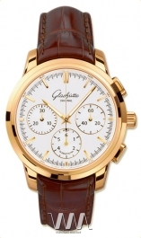 часы Glashutte Original Glashutte Original Senator Chronograph (RG / White / Leather)