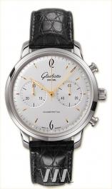 ���� Glashutte Original Glashutte Original Senator Sixties Chronograph (SS / White / Leather)