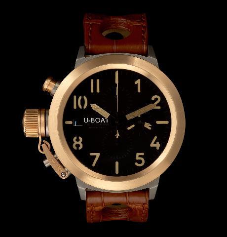 часы U-Boat Flightdeck Titanium Gold Bezel