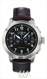 часы Glashutte Original Glashutte Original Senator Navigator Chronograph (SS / Black / Leather)