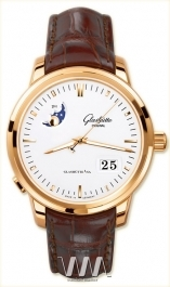часы Glashutte Original Glashutte Original Senator Panorama Date with Moon Phase (RG / White / Leather)