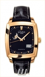 часы Glashutte Original Glashutte Original Senator Karree Panorama Date with Moon Phase (RG / Black / Leather)