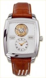 часы Glashutte Original Glashutte Original Senator Karree Tourbillon (Pt / Silver / Leather)