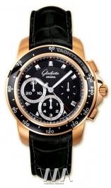 часы Glashutte Original Glashutte Original Sport Evolution Chronograph (RG / Black / Leather)