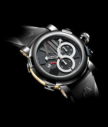 часы Romain Jerome Titanic-DNA – Five black II pink gold chronograph
