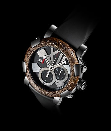 часы Romain Jerome Titanic-DNA – Rusted steel T-oxy III chronograph black Extreme