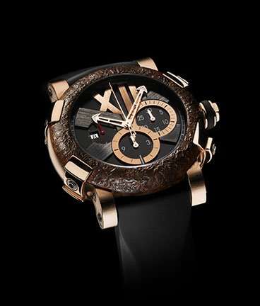 ���� Romain Jerome Titanic-DNA � Rusted steel T-oxy III chronograph pink gold Extreme