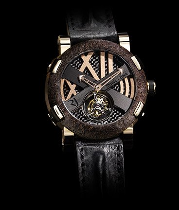 ���� Romain Jerome Titanic-DNA � Rusted steel T-oxy III Tourbillon pink gold Extreme