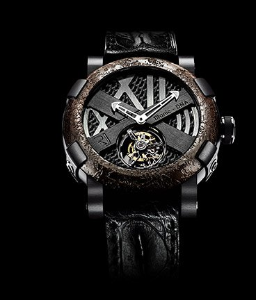 часы Romain Jerome Titanic-DNA – Rusted steel T-oxy III Tourbillon black Extreme