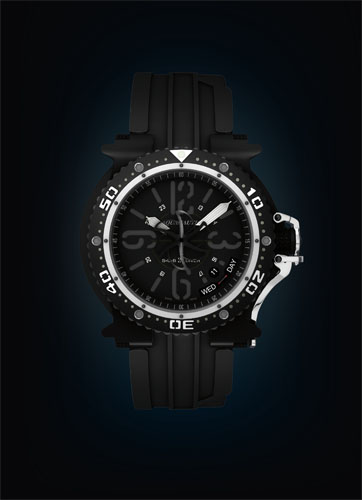часы Aquanautic Subcommander Black 2