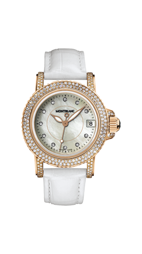 часы Montblanc Sport Lady Red Gold  Diamonds