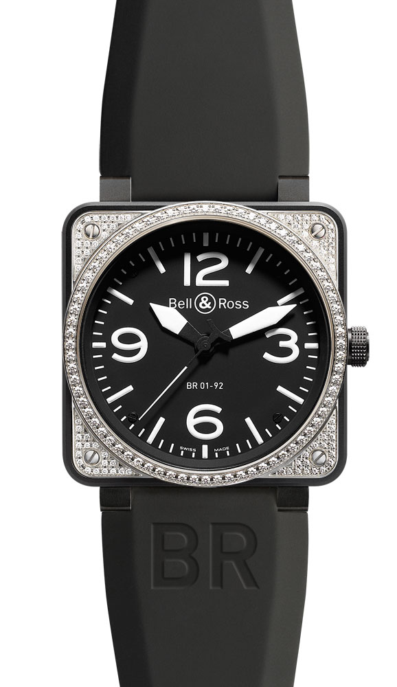 часы Bell & Ross Top Diamond & Carbon