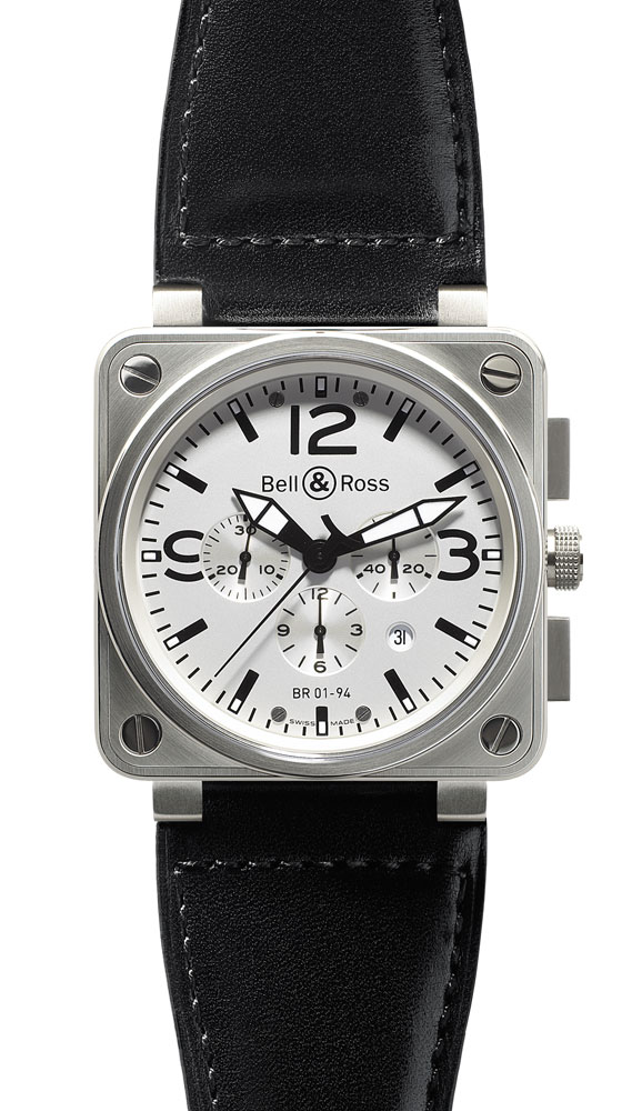 часы Bell & Ross GMT White Dial