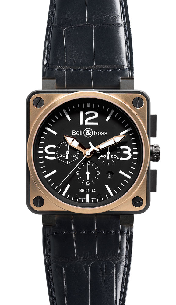 часы Bell & Ross Pink Gold & Carbon