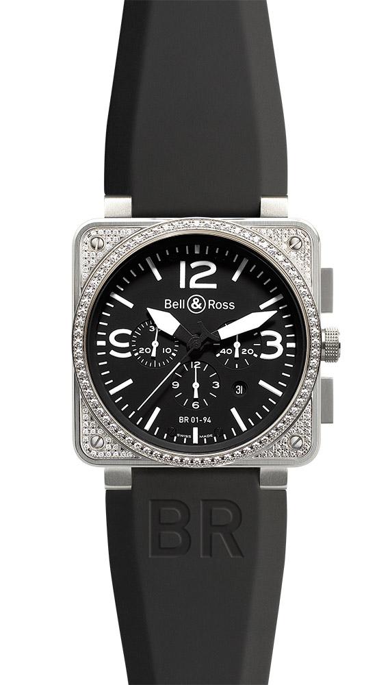 часы Bell & Ross Top Diamond Black Dial