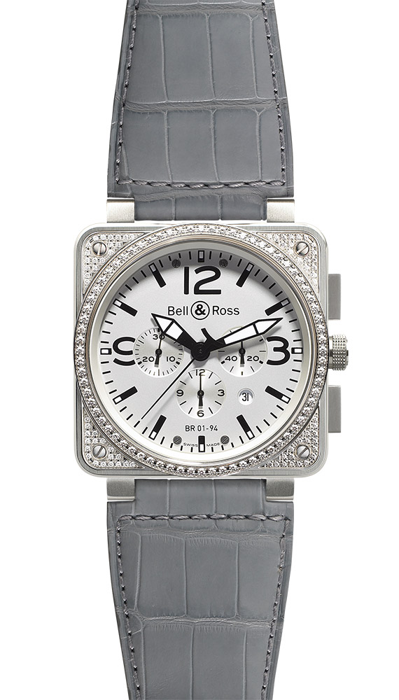 часы Bell & Ross Top Diamond White Dial