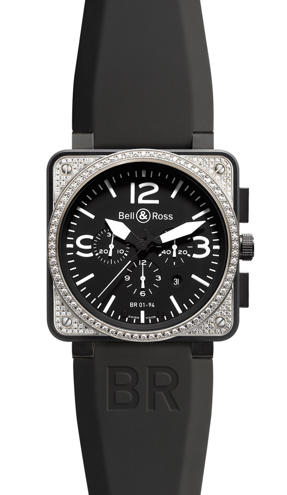 часы Bell & Ross Top Diamond & Carbon