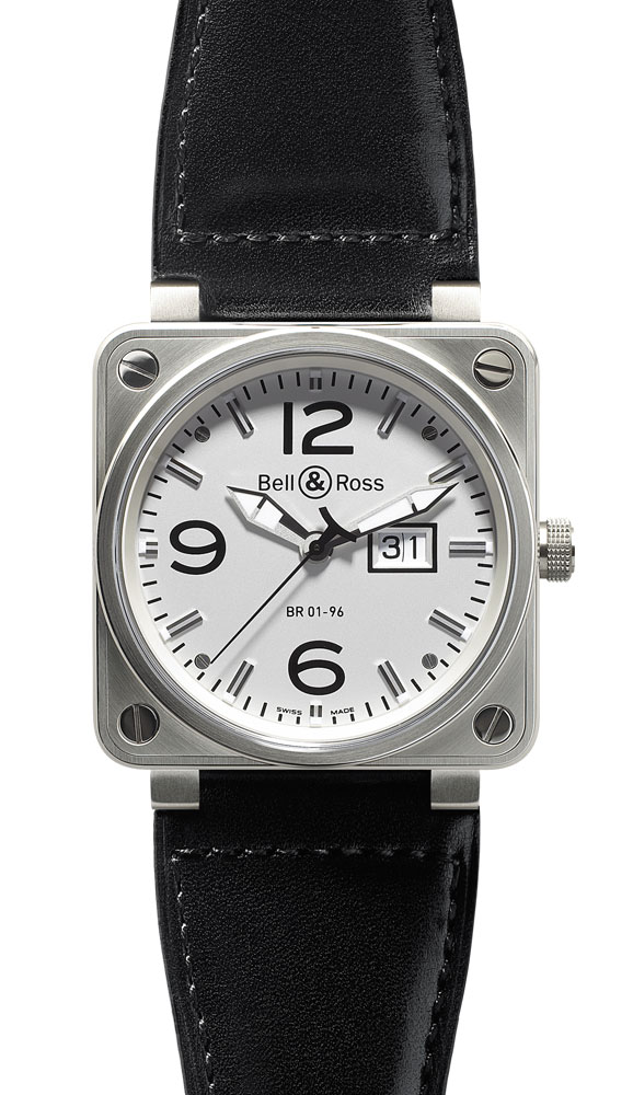 часы Bell & Ross Big Date White Dial