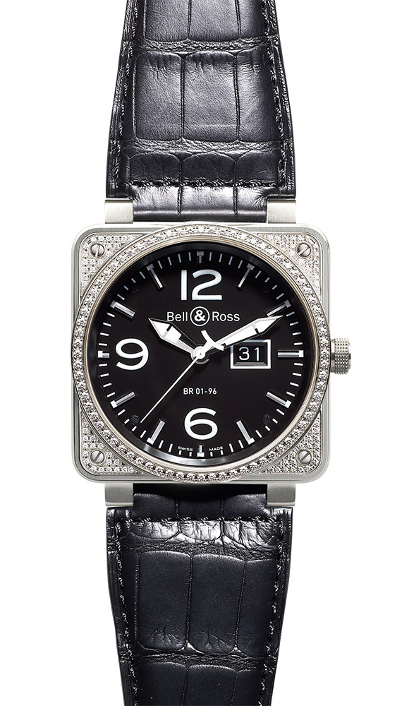 часы Bell & Ross Top Diamond Black Dial