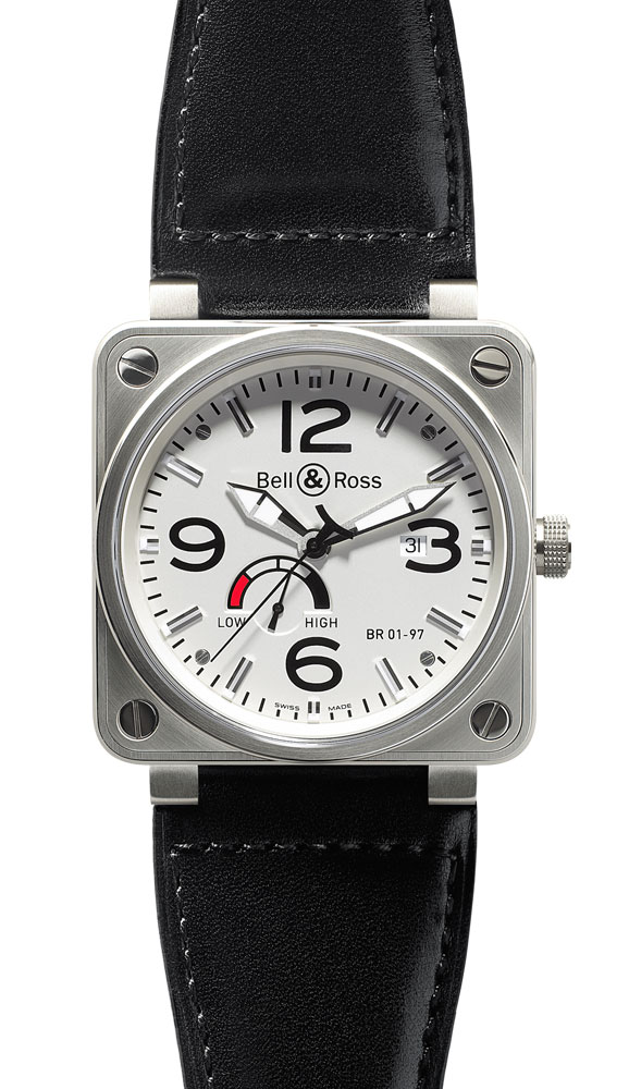 часы Bell & Ross Power Reserve White Dial