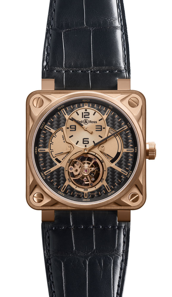 часы Bell & Ross Tourbillon Pink Gold Carbon