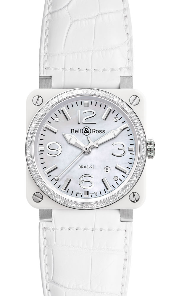 часы Bell & Ross White Ceramic & Diamond