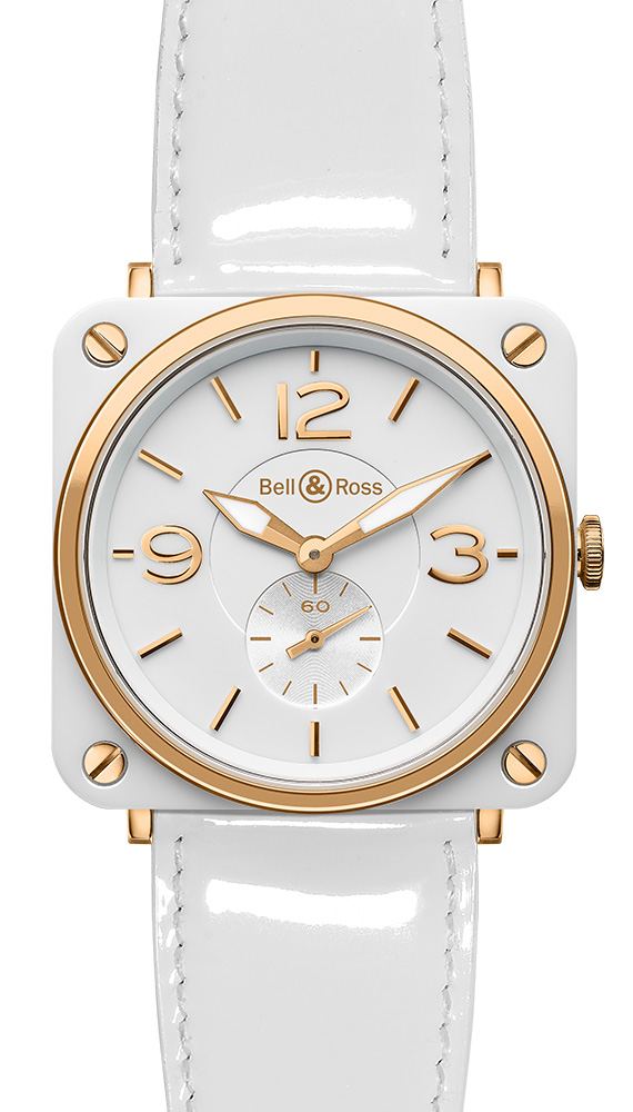 часы Bell & Ross White Ceramic & Gold